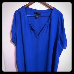 Lane Bryant blue top